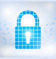 cybersecurity and information network protection vector image vector image