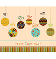 Decoration with stylized christmas balls vector image