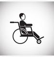 disabled person on wheelchair on white background vector image