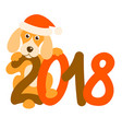 dog and 2018 vector image vector image