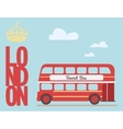 Double decker bus cartoon from England British vector image vector image