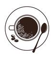 espresso cup top view vector image vector image