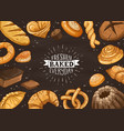 fresh bread poster ilustration vector image