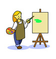 Girl Teen Painting vector image vector image