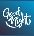 good night handwriting lettering isolated design vector image