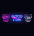 good time neon sign good time design vector image vector image