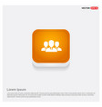 group of people icon orange abstract web button vector image