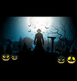 halloween death with grim reaper and pumpkins vector image vector image