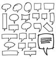 Hand Drawn Speech Bubbles Design Elements vector image vector image