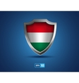 hungary shield on blue background vector image
