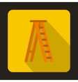 Ladder icon flat style vector image vector image