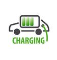 logo charging car batteries vector image