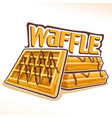 logo for belgian waffle vector image vector image