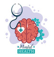 mental health day brain gears functions vector image vector image