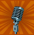microphone pop art style vector image