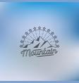 mountain lineart logo hipster logo vector image vector image