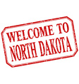 North Dakota - welcome red vintage isolated label vector image