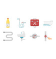 plumbing fitting icons in set collection for vector image