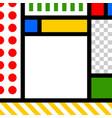 pop art style design template vector image vector image