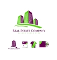 Real estate building skyscraper logo icon vector image vector image