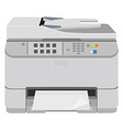 Realistic printer scanner vector image vector image