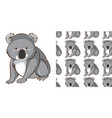 seamless background design with cute koala vector image