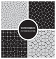 Seamless BW Pattern Mosaic Collection vector image vector image
