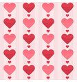 Seamless pattern with red hearts on a pink vector image vector image