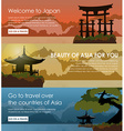 Set banners travel to Japan vector image vector image