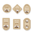 set of tags for cotton manufacture vector image vector image