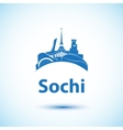 Sochi skyline Hosted the Olympic Winter Games vector image