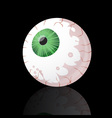 spooky green eyeball vector image vector image