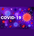 stop 2019-ncov coronavirus test tube vector image
