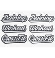 Tags Training Workout CrossFit in sports style vector image vector image