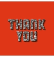 thank you card design vector image vector image
