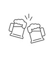 toasting beer glasses vector image