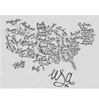 USA Hand Drawn Map 03 A vector image vector image