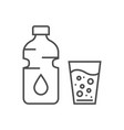 water related thin line icon vector image vector image