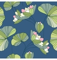Waterlily seamless flower tropical pattern vector | Price: 1 Credit (USD $1)