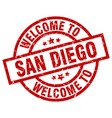 welcome to san diego red stamp vector image vector image