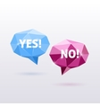 Yes and No Triangle Polygonal Speech Bubbles vector image