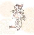 young lord krishna krishna janmashtami greeting vector image