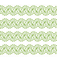 greenery lace seamless pattern background vector image