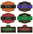 set label vintage vector image