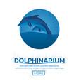 dolphinarium dolphin show banner ticket vector image