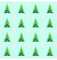 Seamless christmas trees background vector image