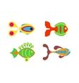 Aquatic fish wildlife aquarium underwater nature vector image