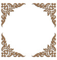 3d carve thai pattern vector image