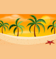 a beach sunset scene vector image vector image