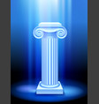 ancient column in blue light vector image